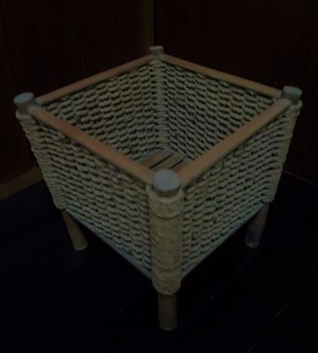Planter Square Box Twirl Rope Weaving Organiser Stand