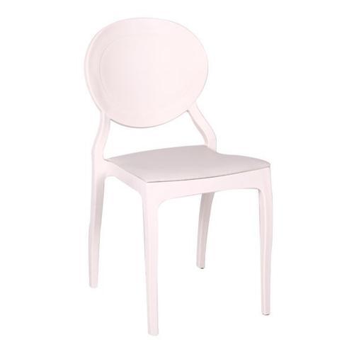 Plastic chair, cream colour x 10 pieces. Suitable for