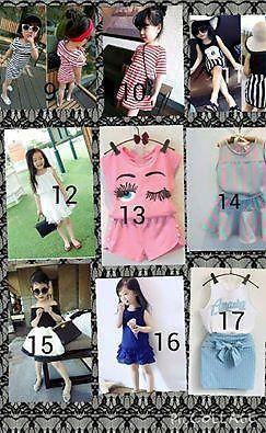 (po)korean style full set kids clothing $12.90
