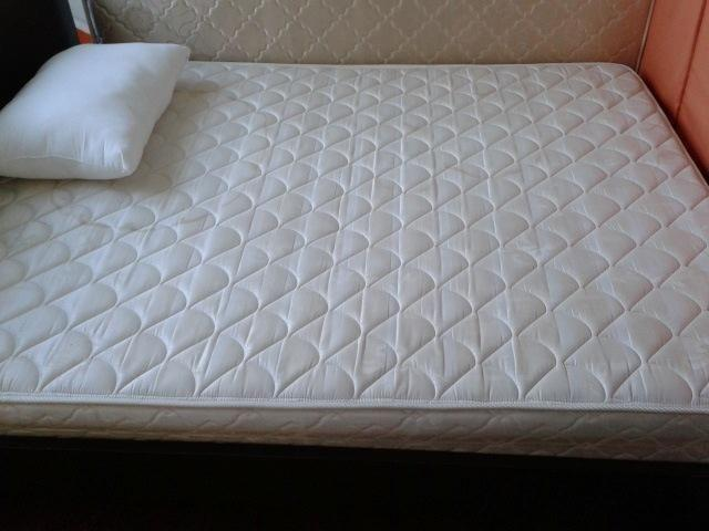 PRE-LOVED QUEEN SIZED BED WITH MATTRESS-100$