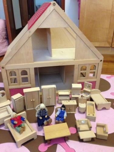Pre Loved Wooden Doll House With Furnitures For Sale In Kings Drive