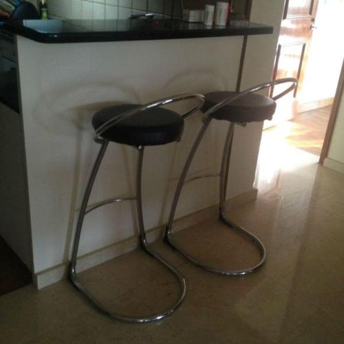 (PRICE REDUCED) Stainless Steel & Leather Bar Stool