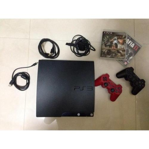 PS3 SLIM 120GB with 2 controllers (PLAYSTATION 3)