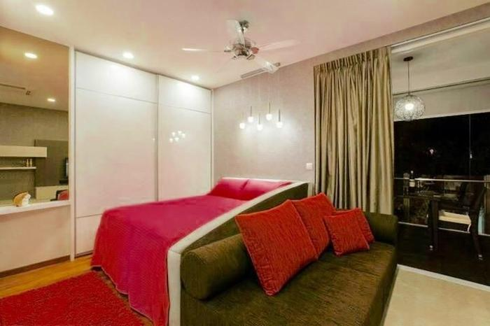 Queen Velvet Melrose storage bed with side board