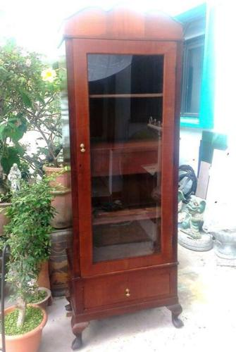 Rare 1930s Marquetry Wardrobe with Queen Anne legs