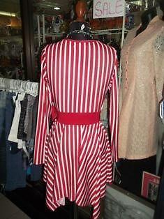red and white stripes dress
