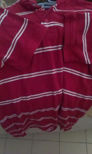 Red/white striped shirt (medium)