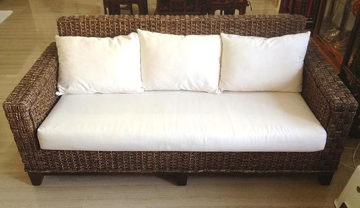 Restort Style Woven Abaca 3 Seater Sofa - Used (NEGO)