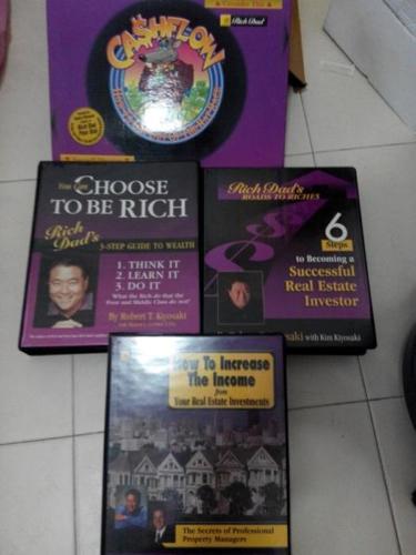 Robert kiyosaki training cd/DVD and cash flow gamers