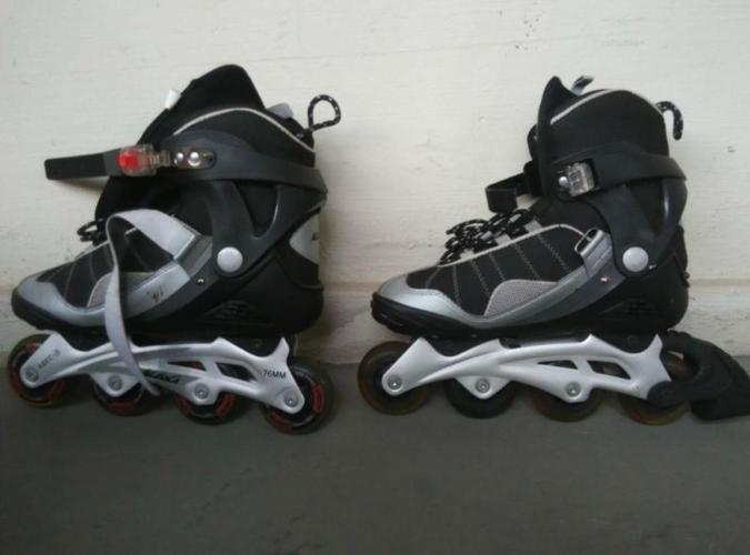 Roller Blades with knee and elbow guard-Size 42- Grab
