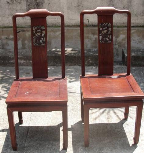 Rosewood chairs, fine dragon carving, Changi Junk Store