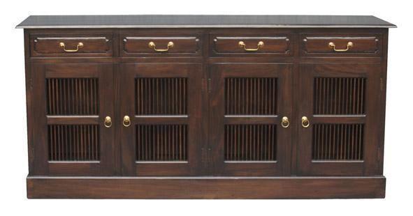 Rustic Resort Furniture 4 Door Buffet Sideboard TV Low