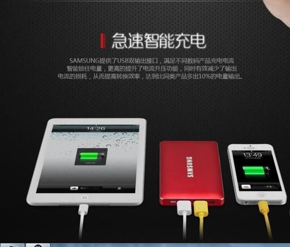 Samsung two plugs in 12000 mAh Power Bank