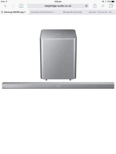SAMSUNG Wireless Sound Bar, unopened for immediate sale