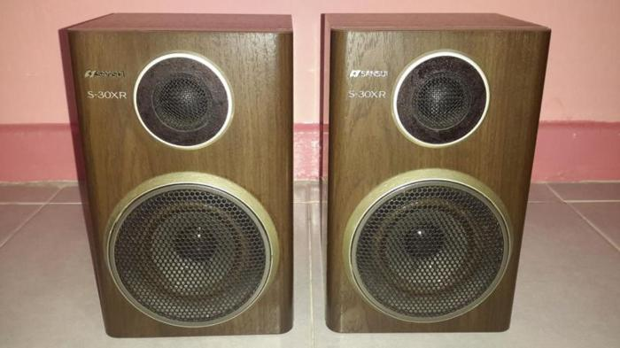 SANSUI 2 Way Vintage Bookshelf Speakers 50