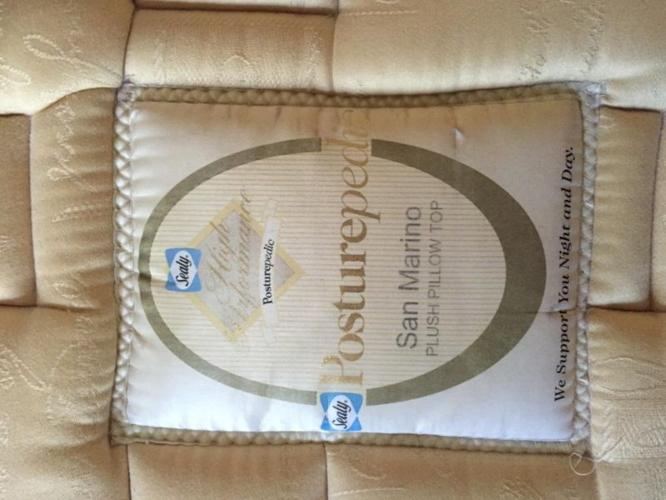 Sealy Posturepedic Plush Pillow Top Mattress & Bedframe