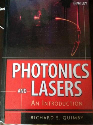 second hand book:photonics and lasers