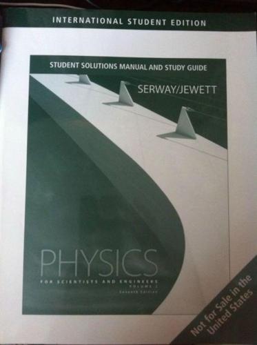 secondhand book :physics solutions serway/jewett