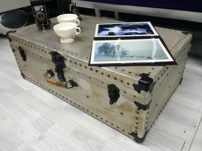 Shabby chic vintage storage trunk