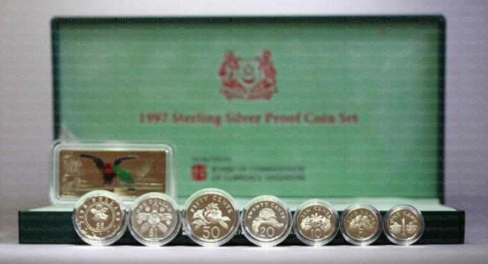 Singapore 1997 Sterling Silver Proof Coin Set Jurong