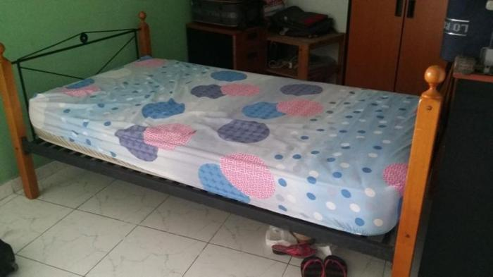 single bed frame with mattress only $75