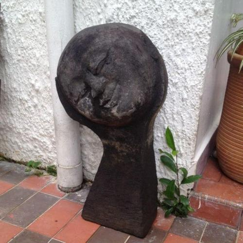 Sleeping Girl Garden Stone Feature