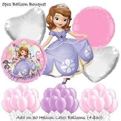 Sofia the First Balloon Bouquet by Party Wholesale