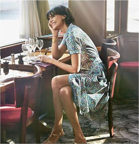 SOLD! InWear | Elegant Wrap Dress in Parisian Style