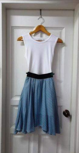 SOLD! Sweet Baby Blue Polka Dot Skirt
