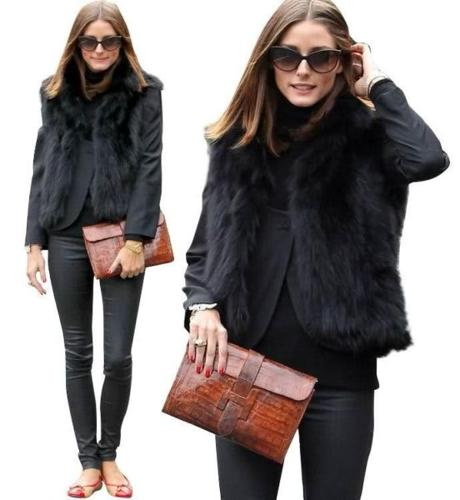 SOLD! ZARA WOMAN | Rockstar Chic Faux Fur Vest