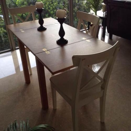 Solid Oak (John Lewis) Extendable table, + 3 Free