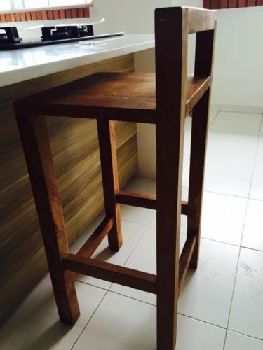 Solid teak bar stool