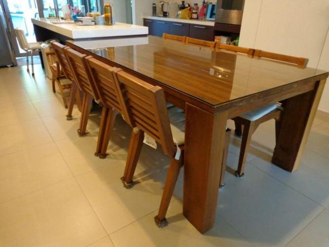 Solid Teak Wood Dining Table 8 Seater For Sale In Lucky