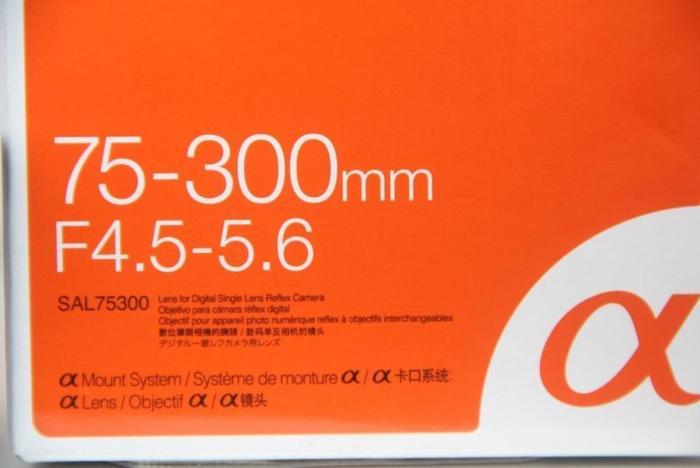 Sony DT 75-300 tele mint full set $125