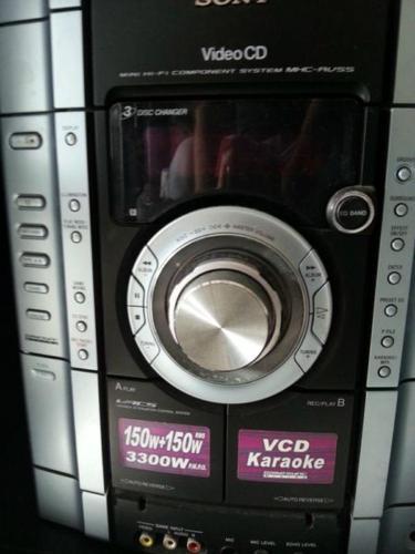 sony mini hi-fi component system mhc-rv55