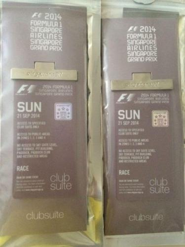 Special Club Suite Passes to Singapore F1 Final Race