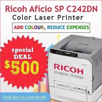 Special Deal! Ricoh Aficio SP C242DN Colour Laser