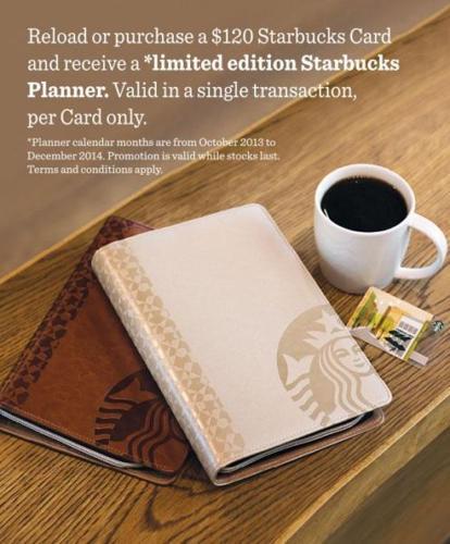 Starbucks Planner - Brown! comes with Starbucks bag