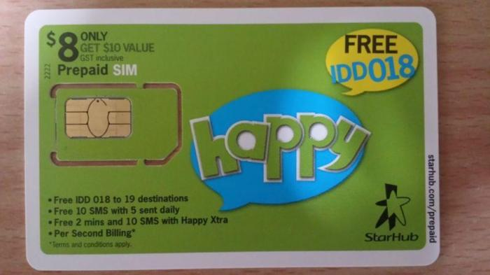 Starhub Golden Number 4G Mobile Prepaid SIM card for sale