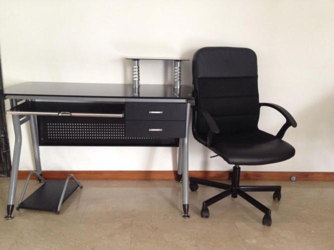 Study table with office chair attached