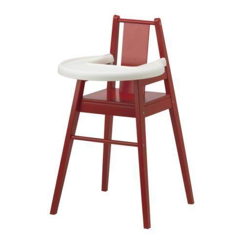 Stylish Highchair with Tray in Red