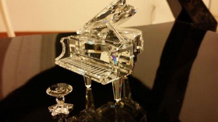 Swarovski Crystal Piano with Stool