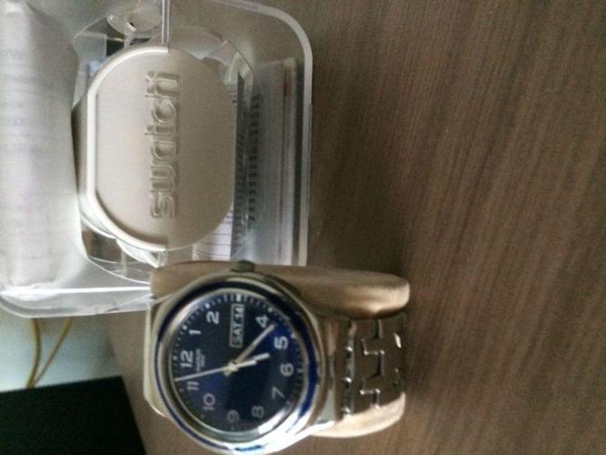 Swatch Men's Quatz Watch Classic Blue Influence YG765G