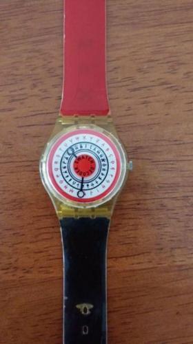 Swatch Watch Red Black