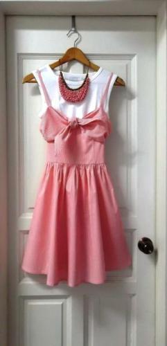 Sweet Pink Striped Dress