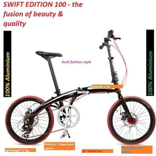 SWIFT 100% Aluminium frame Foldable bike Audi fashion