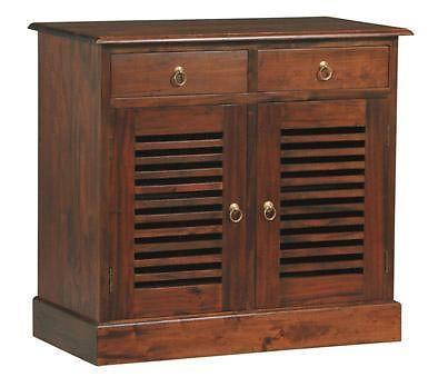 Teak Furniture 2 Solid Door 2 Drawer Buffet Shoe