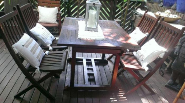 Teak Table and Chairs for the Patio