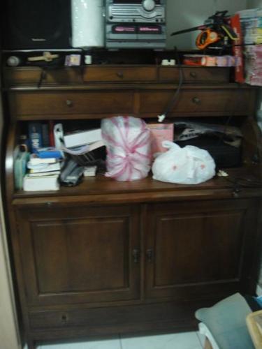 Teak Wood Cabinets + Study table + Drawers