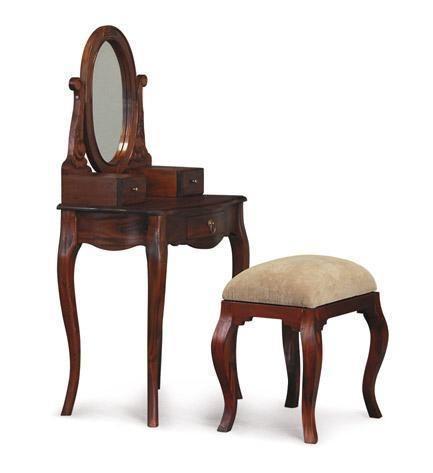 Teak Wood Singapore Furniture French Dressing Table